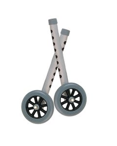 """Drive 10108wc Extended Height 5"""" Walker Wheels and Legs Combo Pack"""
