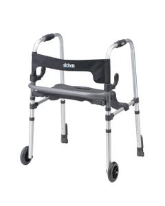 Drive 10233 Clever Lite LS Rollator Walker with Seat and Push Down Brakes