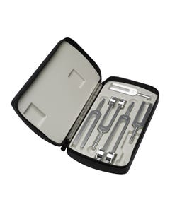 Miltex 19-120 Set of 5 Tuning Forks, C-128, C-256, C-512, C-1024 & C-2048 in Fitted Soft Case