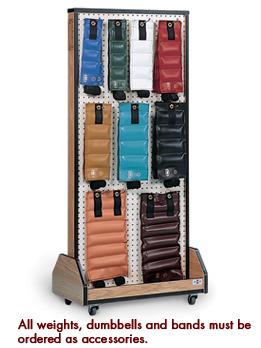Hausmann 5570 Weight Storage Mobile Rack