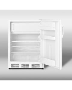 Summit Appliance Specialty Household CT66J Counter-Height 5.3 cu. ft. Refrigerator-Freezer W/ Dual Evaporator and Adjustable Wire Shelves