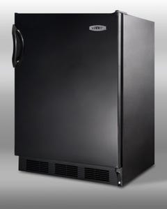 Summit Appliance Specialty Household CT66B Counter-Height 5.3 cu. ft. Refrigerator-Freezer W/ Dual Evaporator and Adjustable Glass Shelves
