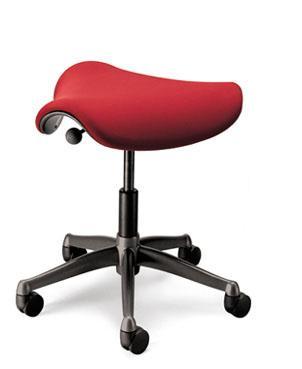 Humanscale Freedom Height-Adjustable Saddle Seat W/ Triangular Cushion