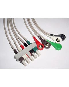 Tenacore Refurbished Equivalent of Philips AAMI ECG Color-Coded 5-Lead Wire Set w/ Snaps