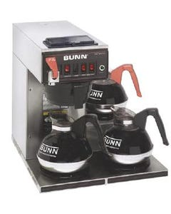 Bunn CWTF15-3 12-Cup Automatic Coffee Brewer w/ 3-Lower Warmers