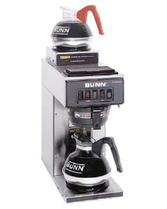 Bunn VP17-2 Portable Low-Profile Pourover Coffee Brewer w/ 2 Warmers