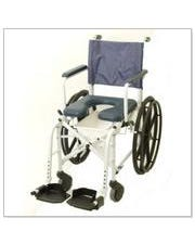 Invacare Mariner Rehab Rust-Resistant Shower Commode Chair W/ 24 in. Rear Wheels