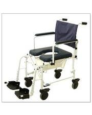 Invacare 6891 Mariner Rehab Rust-Resistant Shower Commode Chair W/ (4) 5 in. Locking Casters