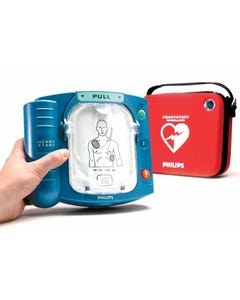 Philips M5066A #HS1 AED Defibrillator w/ Batteries and Adult Pads