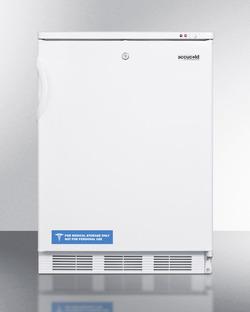 Summit Appliance VT65ML Commercial Undercounter Freezer, 3.5 cu. Ft., Color, White
