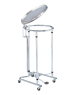 Blickman 7774SS-LF Round Stainless Steel Hamper, Foot-Operated, 092777420P