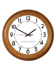 American Time Wood Case SiteSync IQ Wireless Analog Clock
