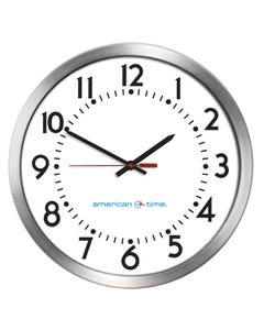 American Time Aluminum Case SiteSync IQ Wireless Analog Clock