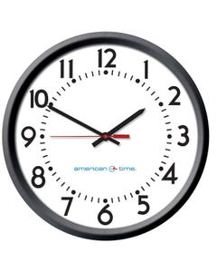 American Time Molded Case Power over Ethernet Analog Clock