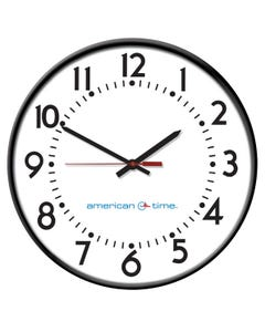 American Time Steel Case Power over Ethernet Analog Clock