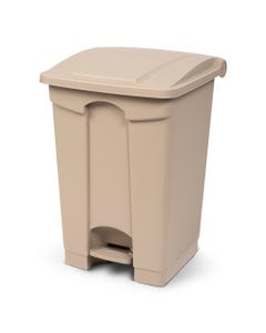 Toter 12 Gallon Step on Container Fire Retardant Beige SOF12 00BEI