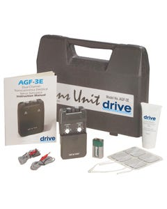 Drive Portable Dual Channel TENS Unit with Electrodes and Carry Case agf-3e