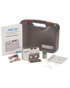 Drive agf-3x Portable Dual Channel TENS Unit with Electrodes and Carry Case