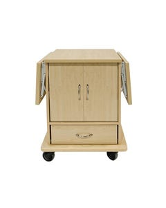 Amico DC-LTDD-11-MOF2-P Leo Cart with 2 Flip Up Tables, and Pass Through Drawer