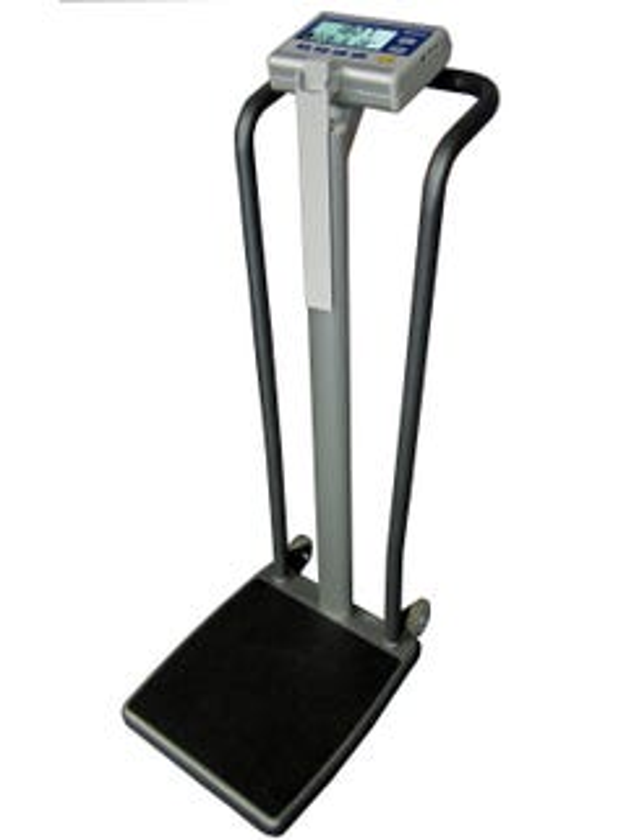 "Befour MX807 Tilt & Roll Compact Handrail Scale with BMI, 16"" x 18"" Platform & 750 lb capacity"