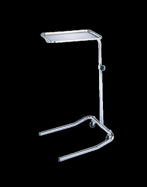Blickman Single-Post Chrome Mayo Stands (U-Base), 661515000