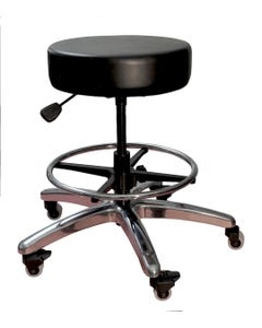 Brandt 17431-FR Pneumatic Bariatric Stool with Foot Ring - Black