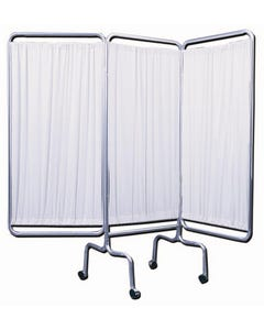 Brandt 70003 Deluxe 3 Panel Screen with Casters