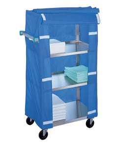 Lakeside Stainless Steel Linen Carts