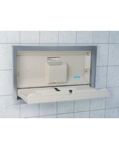 Koala Kare Standard Recessed Baby Changing Station w/Stainless Steel Flange