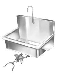 Aero Wall Mounted, Foot, Knee & Electronic Scrub Sinks