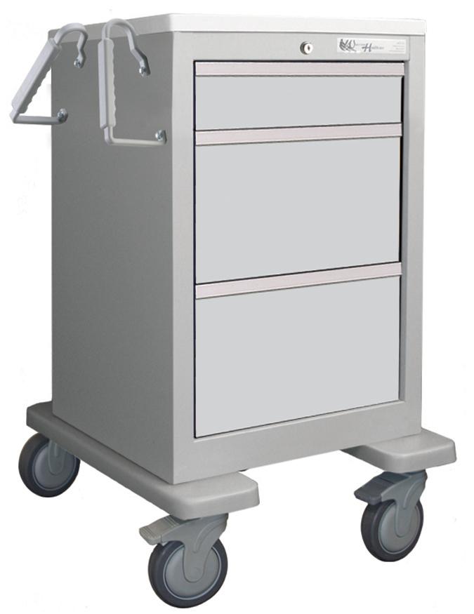 Waterloo Steel Light-Gray Economy Uni-Cart W/ 5 in. Premium Casters