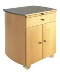 Touch America Timbale Wooden Storage Cabinet w/ Stainless Steel Countertop
