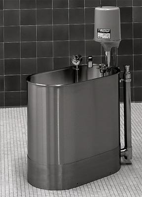 "Stationary Extremity Whirlpool, 28"" x 15"" x 21"" - 27 gallon"
