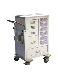 Waterloo All-In-One Tall Phlebotomy Cart, MTWA-34696-WHT
