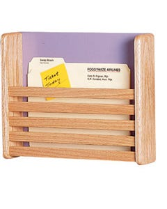 Peter Pepper 13126 1 Pocket Magazine Rack & Wall File Chart Holder
