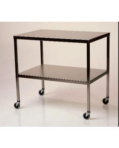 Mid Central Medical Stainless Steel Instrument Table with Shelf