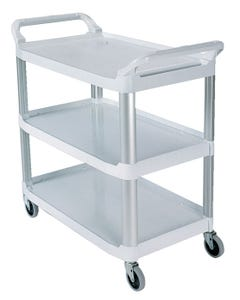 Rubbermaid Open Sided Utility Cart white