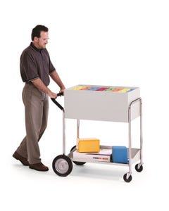 """Charnstrom B241 Medium Solid Metal Cart with 10"""" Rear Tires"""