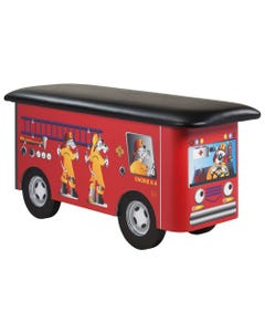 Clinton 7030 Fun Series Pediatric Treatment Table - Engine K-9 with Dalmatian Firefighters