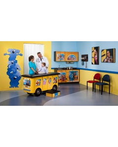 Clinton7020-X Zoo Bus Table & Cabinets