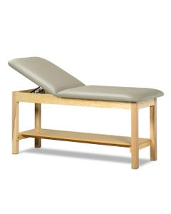 CME Antimicrobial Treatment Table, Full Shelf and Adjustable Backrest