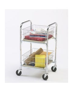Charnstrom M242 Compact Mail Cart with Removable Parcel Baskets
