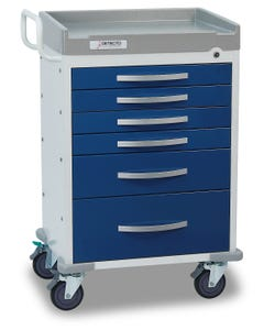 Detecto Rescue Series Anesthesiology Medical Cart with 6 Blue Drawers RC333369BLU