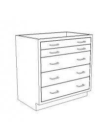 Blickman Base Cabinet with 5 Drawers