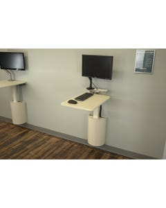 """Right Height Manufacturing R11271 StableRise Pull and Swivel with 16"""" x 26"""" Surface and Monitor Arm"""