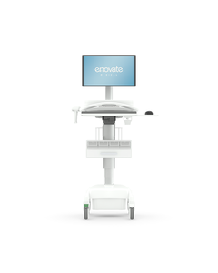 Enovate S-M0P-KBP-0-0000-HC30-EC-DL03 LCD Phosphate Powered Medication Cart - EMC