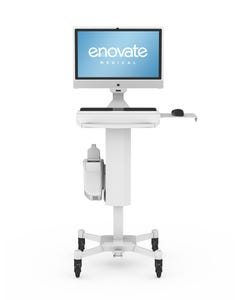 Enovate SL-MA-2-00 Slimline LCD Monitor Mobious Powered Cart
