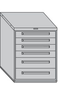 """Equipto 443038-042-01 30"""" Wide Modular Drawer Cabinets"""
