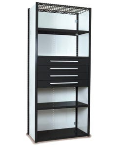 Equipto S4253VHS Shelving With Drawers - S4253VHS-BK