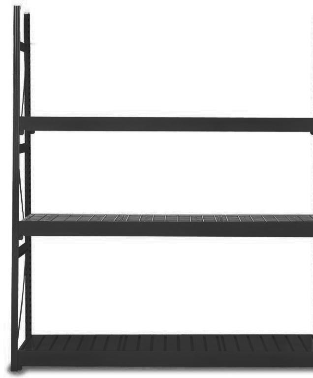 Equipto 1016D62A V-Grip Bulk Rack - 1016D62A-BK
